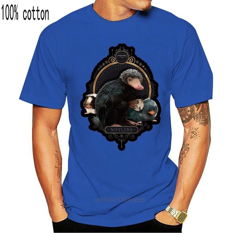 Resmi fantastik Beasts suçları Of Grindelwald Nifflers siyah T Shirt (yeni) rahat T gömlek Casual kısa kollu Tee 012136