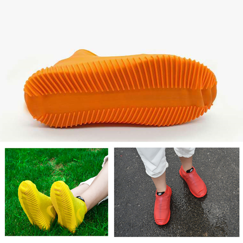 Outdoor Silicone Waterproof Shoe Covers Rainproof Reusable Overshoes Non-slip Rain Boots For Hiking Fishing Cycling S/M/L