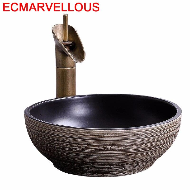 Black Salle De Bain Bowl Bassin Waschtisch Bagno Para Pia Wasbak Sobre Encimera Basin Lavabo Cuba Banheiro Bathroom Sink