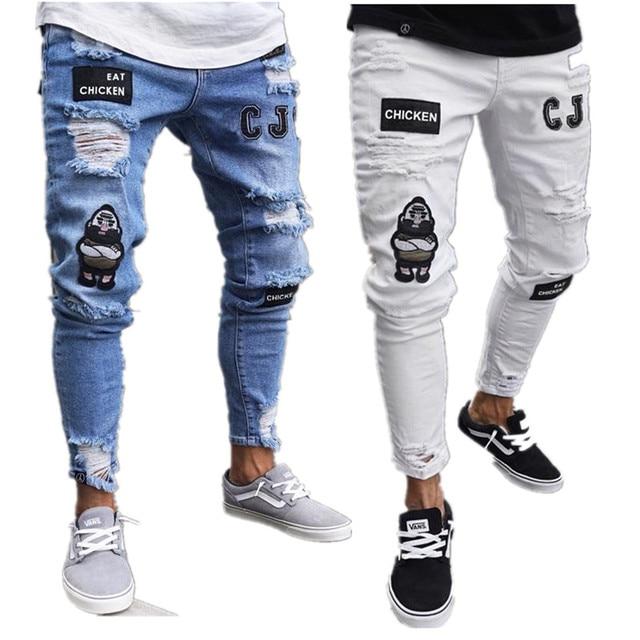 New men hole jeans 10
