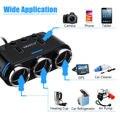 USB Порты и разъёмы автомобильного прикуриватель для телефона светодиодный Дисплей вкл/выкл переключатель 12/24V светодиодный 3 входа в розетк...