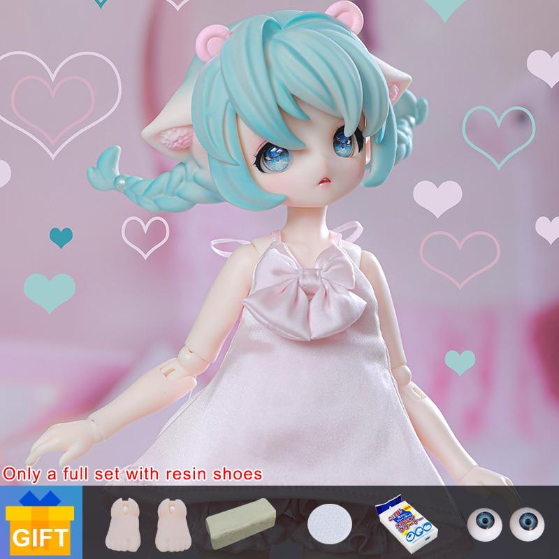 Shuga fada anya 1/6 bjd boneca anime figura resina brinquedos para crianças presente surpresa para meninas aniversário conjunto completo accesorios