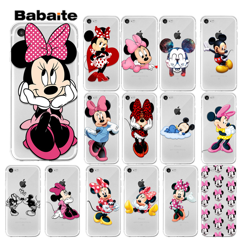 Yinuoda Cute Minnie <font><b>Mickey</b></font> love <font><b>Coque</b></font> Shell Phone Case for Apple <font><b>iPhone</b></font> 8 7 6 <font><b>6S</b></font> Plus X XS MAX 5 5S SE XR Cover image