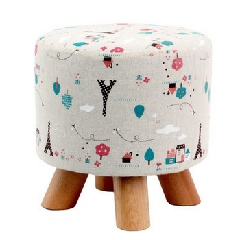 Iron Tower Stretch Dia. 28cm Round Footstool Cover Wooden Stool Slipcover Round Footstool Slipcover Wooden Footstool Cover image