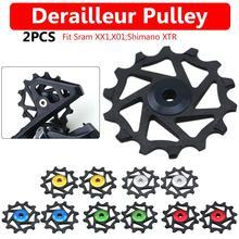2Pcs 12T Bike Rear Derailleur Guide Pulley Wheel MTB Bike Bicycle Resin Ceramic Bearing Jockey Wheel Rear Derailleur Pulley цена 2017