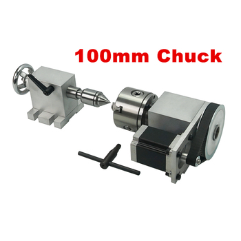 Rotary 4th A Axis for CNC Router Engraver Milling Machine 80mm chuck 100mm 4 jaw activity tailstock cnc tailstock with chuck for rotary axis cnc milling machine tailstock center height 65mm
