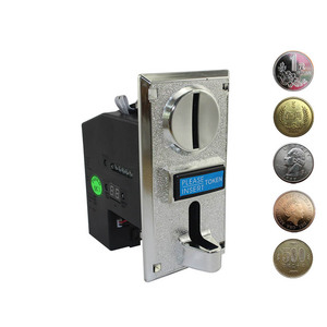 Multi Coin Acceptor selector Electronic Roll Down Mechanism CPU Programmable Vending Machine Mech Arcade Game Ticket Redemption