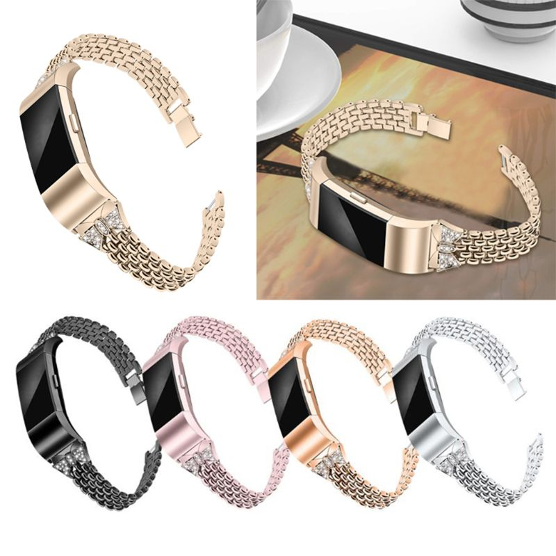 OOTDTY Metall Strap Für <font><b>Fitbit</b></font> Gebühr <font><b>2</b></font> <font><b>Band</b></font> Strap Edelstahl Armband Armbänder image