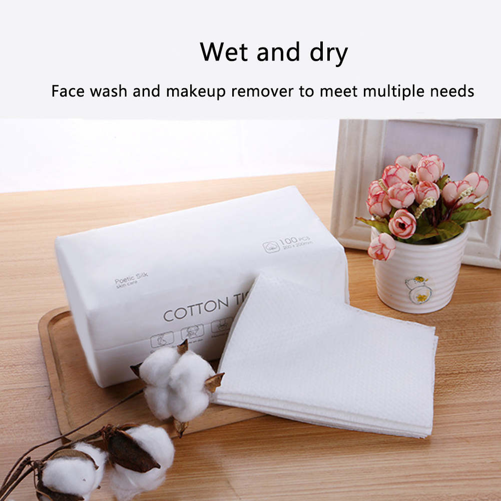 200pcs Face Towel Thickened Disposable Wipes Facial Cleaning Portable Strong Toughness Travel Makeup Cotton Blend Soft Dry Wet