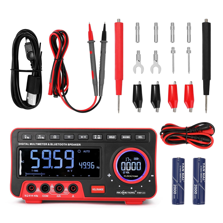 Multimètre, mesure à haute précision 19999, plage automatique, Audio, BT, résistance du courant, capacité, valeur True RMS
