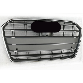 Black Car Front Bumper Grille Grill for Audi A6/S6/c7 2016 2017 2018 2019 car-styling accessories