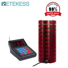 RETEKESS SU-668 Restaurant pager Waiter Calling System Wireless Paging Queue System for Restaurant Coffee Shop Queuing System wireless calling system restaurant serving wireless restaurant remote waiter calling paging system 9pcs call transmitter