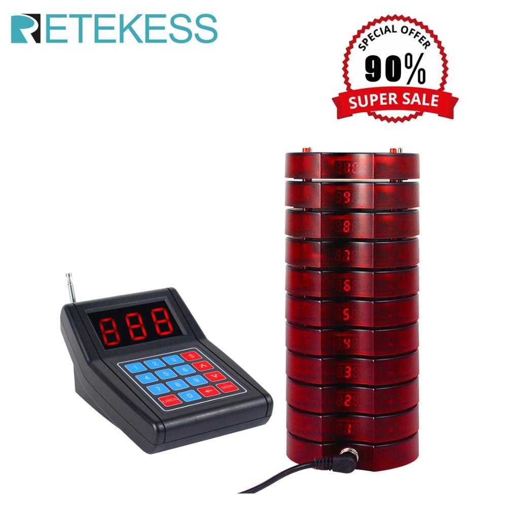 Système d'appel de serveur de téléavertisseur de Restaurant de SU-668 de RETEKESS système de file d'attente de téléappel sans fil pour le système de file d'attente de café de Restaurant