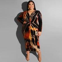 Обтягивающее платье миди размера плюс с завязками весеннее осеннее