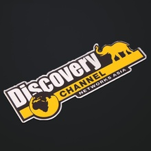 Aluminum Discovery Channel Networks Asia Car Body Rear Trunk Emblem Badge Sticker For