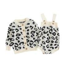 Детские комбинезоны осенняя вязаная детская одежда с леопардовым