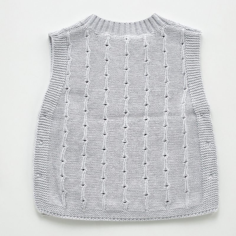Autumn Newborn Baby Boys Girls Cotton Knitted Sleeveless Vest Cute Solid Sweater Knitted Vest Coat Korean Japan Style 5