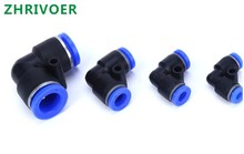 5Pcs  Pneumatic L Type elbow fitting Plastic Pipe Connector Quick Fitting PV4 6 8 10 12MM