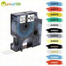 Fita de rótulo d1 45013 45010, cartucho compatível com dymo labelmanager, 45013 280 160 p 260 45010 45018 40913