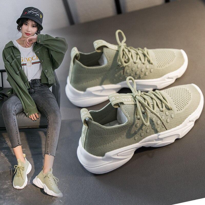 Zapatos de moda para mujer, zapatillas deportivas casuales de Color, zapatillas vulcanizadas casuales de tendencia para mujer, zapatos cómodos de malla para mujer|Zapatos vulcanizados de mujer|   - AliExpress
