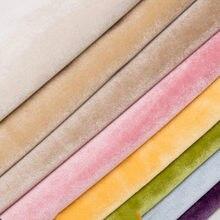 Wide150cm-tela de terciopelo azulado para sofá, cortinas de tela para sofá, tapicería, tela de terciopelo, plisado, gris denso