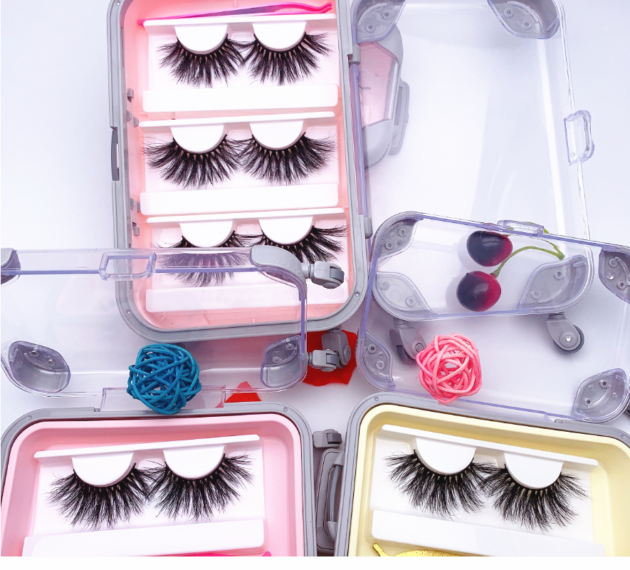 Wholesale Lash Packaging 25mm False Eyelashes Wholesale Thick Strip 25mm 3D Mink Lashes Custom Packaging Label Makeup Dramatic