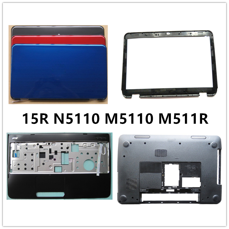 New laptop For <font><b>DELL</b></font> 15R <font><b>N5110</b></font> M5110 M511R LCD Back Cover Top <font><b>Case</b></font>/Front Bezel/Palmrest/Bottom Base Cover <font><b>Case</b></font> image