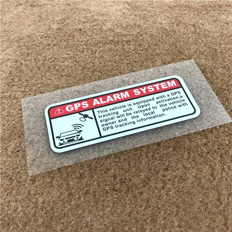 2 adet/takım araba çıkartmaları uyarı mektupları GPS Alarm güvenlik motosiklet çıkartmalar anti-hırsızlık çıkartmaları su geçirmez yansıtıcı tipi etiket