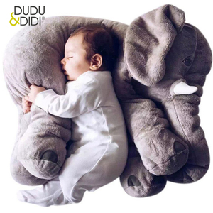 40/60CM Elephant Plush Pillow Infant Soft For Sleeping Stuffed Animals Toys Baby 's Playmate gifts for Children WJ346(China)