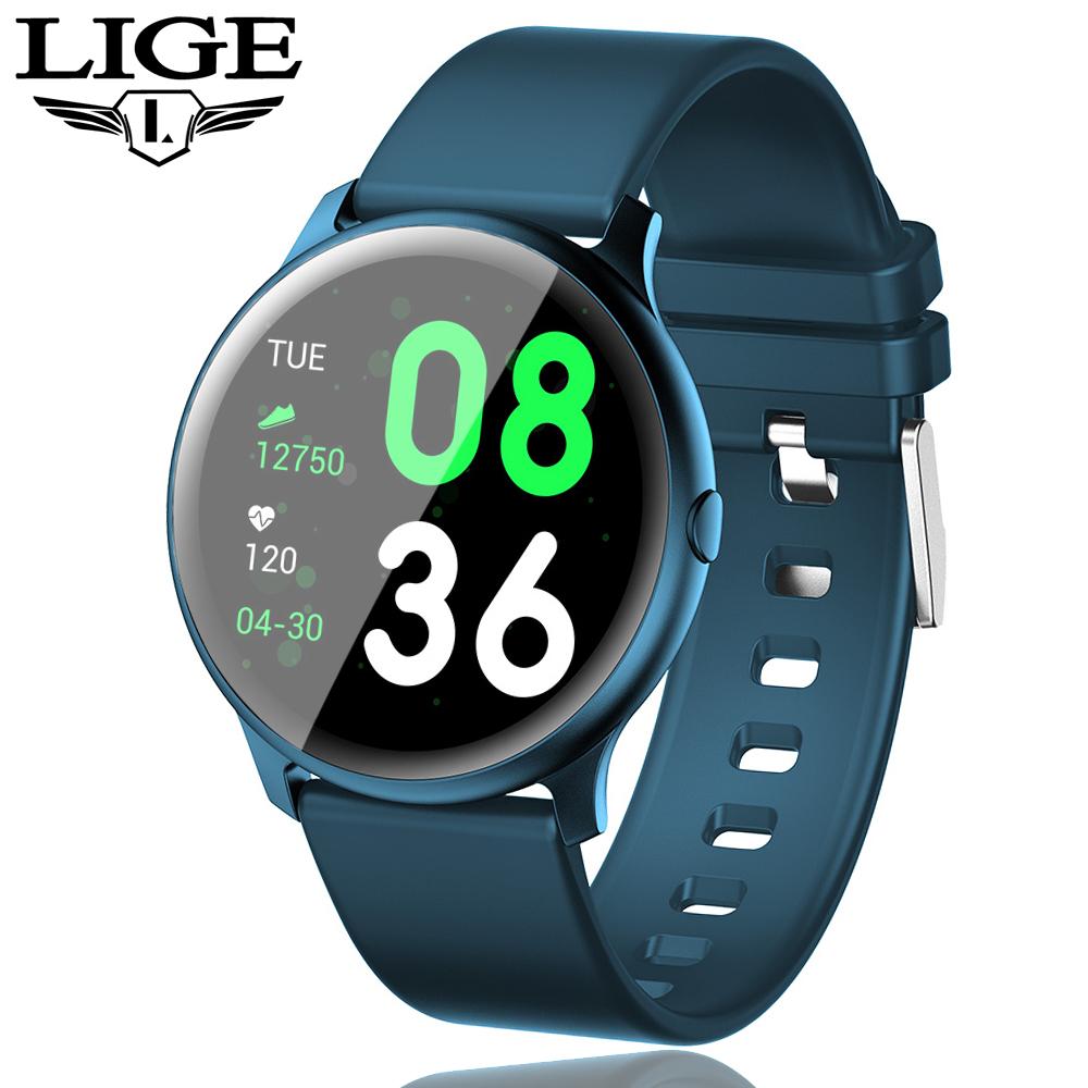 LIGE Smart Watch Men OLED Color Screen Waterproof Women SmartWatch Heart Rate Blood Pressure Monitor sport watch Fitness tracker