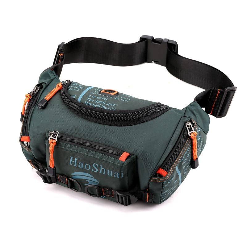 Waterproof Nylon Men Waist Pack Bum Sling Chest Bag Multi-purpose Travel Military Male Shoulder Messenger Hip Belt Fanny Bags
