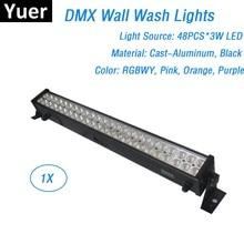 2019 مبيعات المصنع 48X3W 8 ألوان LED أضواء ساقطة على الجدار DMX512 ديسكو أضواء LED مصابيح حفلات Dj المهنية نادي أضواء للمسرح
