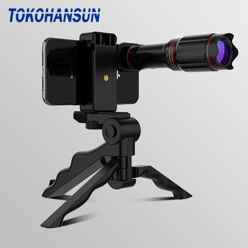 TOKOHANSUN Optic Phone camera lens 32X Telescope Telephoto monocular lens for iPhone X 7 8 plus Xiaomi Huawei other smartphone|Mobile Phone Lens| |  - title=