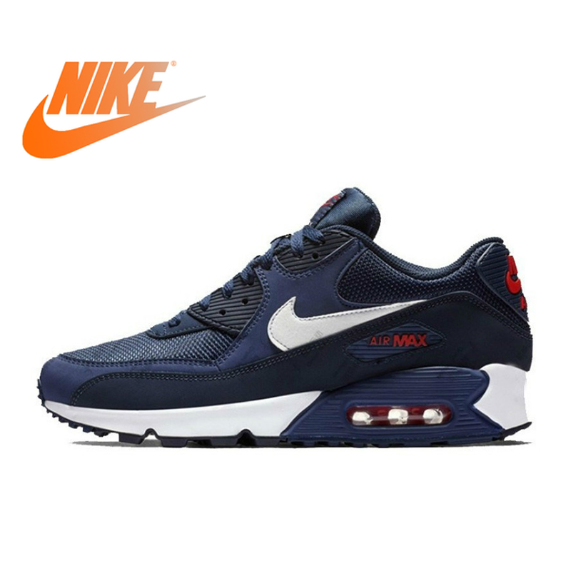 NIKE AIR MAX 90 Original Authentic Men's ESSENTIAL Running Shoes Sport Outdoor Sneakers Comfortable Durable Breathable New