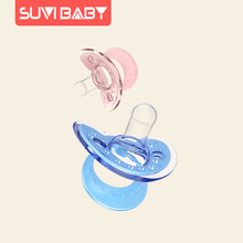 Silicone Food Grade Round Pacifier Flat  Newborn Toys Nipple Baby Pacifier Luxury Upete   Baby Gift BW50NZ