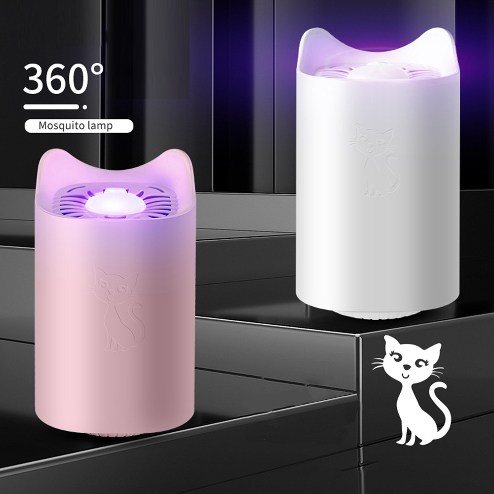 Trap No Radiation Insect Killer Flies Trap Lamp Cute Cat Mosquito Killer Lamp USB Electric Photocatalysis Led UV Bug Zapper