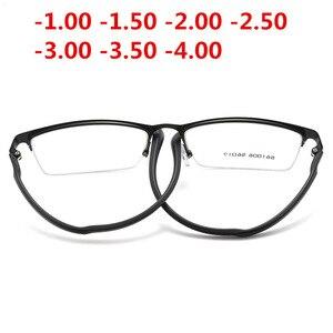 Image 4 - Ultraleicht TR90 Fertig Myopie Gläser Frauen Männer Retro Oval Student kurzsichtig Brille Dioptrien 0,5 1,0  1,5 2,0 Zu 4.0NX