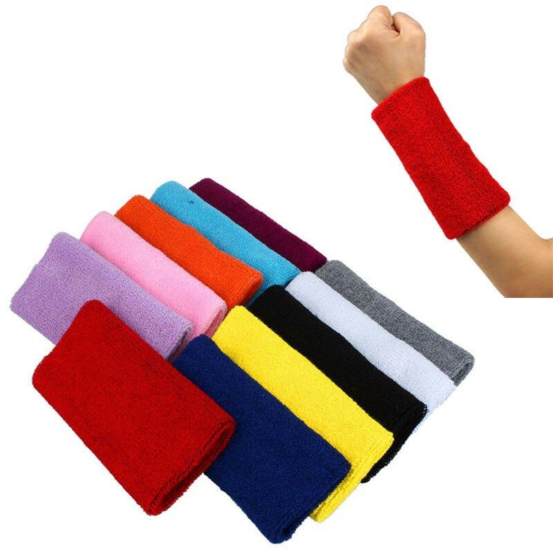 Unisex Sports Sweatbands Basketball Tennis Gym Yoga Protector Wristband Armband