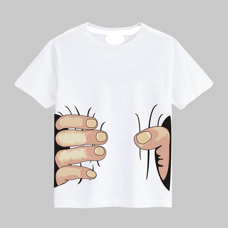 Summer New Baby Girls Boys T Shirts 3D Print Big Hand Grab You Toddler Cotton Short Sleeve Kids T-Shirts Child Clothing Tops Tee