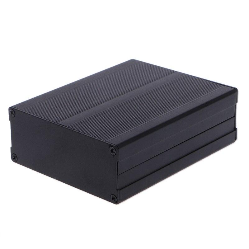 Aluminum Box Enclosure DIY Electronic Project Black Instrument Case 120x97x40mm D5BD