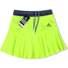 Women Sports Skirt Spring Summer New Thin Anti-light Quick Dry Breathable Sweat Running Fitness Stretch Skort with Safety Shorts