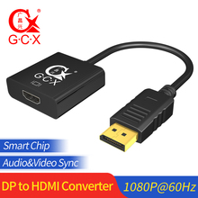 цена на GCX Displayport to HDMI Converter 1080P Video Audio Sync Male to Female Display Port DP to HDMI Adaptor Cable For PC Projector