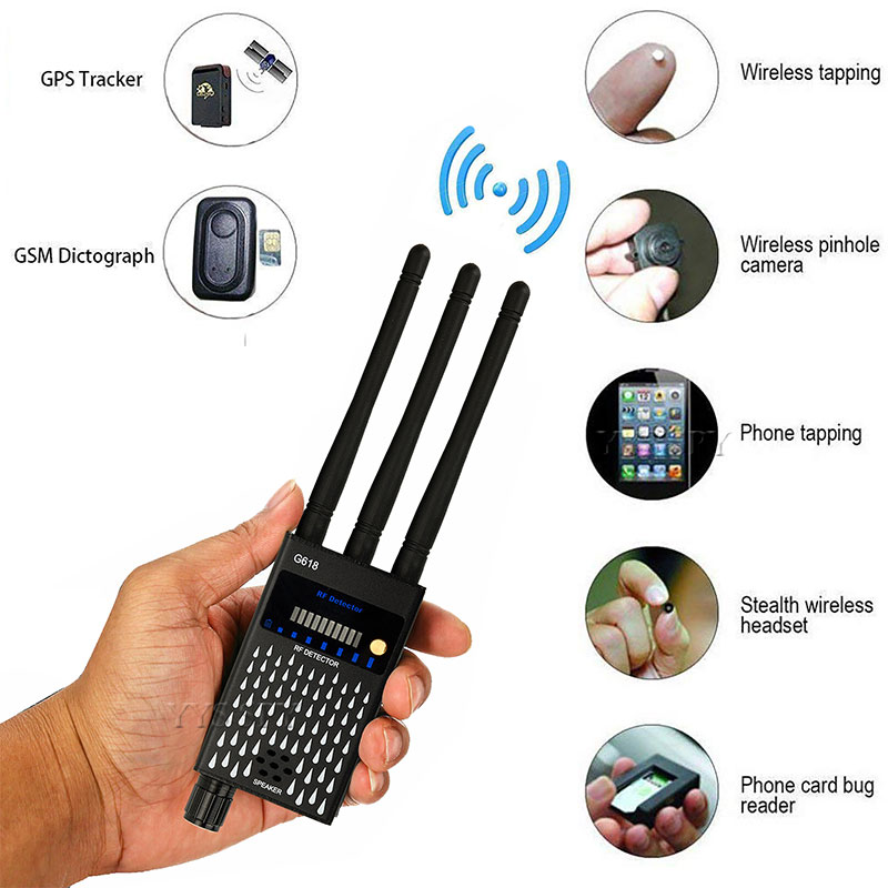 Профессиональный G618 детектор 3 Антенна Анти-шпион радиочастотный CDMA сигнала Finder спутникового для Ошибка GSM GPS трекер Беспроводной Скрытая К...