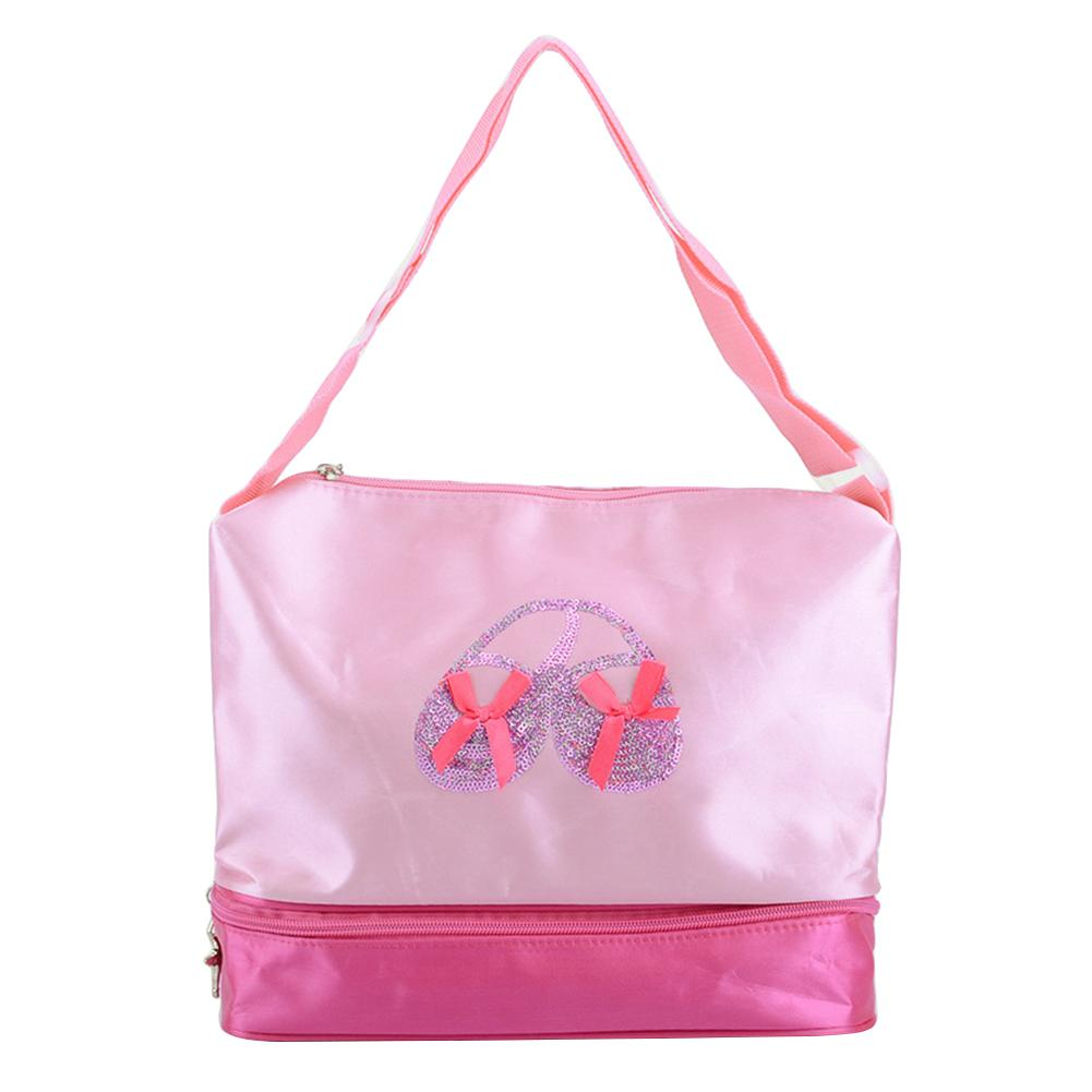 Pink Princess Ballet Latin Dance Tote Bag For Little Girls Ballerina Kid Teen Dancer With Adjustable Strap