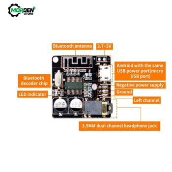 VHM-314 Car Bluetooth Audio Receiver Board Bluetooth 5.0 mp3 Lossless Decoder Board Stereo Music Module image