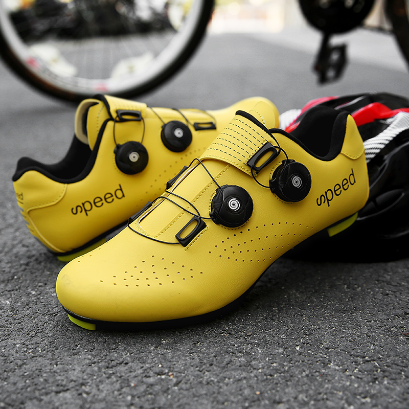 High Quality Double Buckles Cycling Shoes MTB Road Bike Shoes Breathable Self-Locking Bicycle Shoes Professional Cycling Sneaker