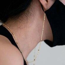 Новинка 2020, корейское винтажное ожерелье из жемчуга и стеклянных бусин, цепочка для маски, ремешок на шею, держатель для очков, веревка для ж...