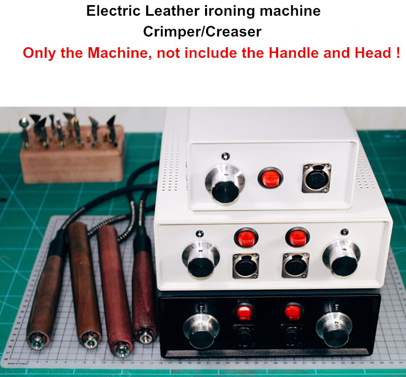 220V/110V Leather Electric Crimper Creaser Leather Electric Hot Edge Machine Creasing Machine Only The Machine Y