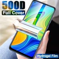 500D Screen Protector Protector de pantalla para Redmi Note 9 película de hidrogel 8 7 5 6 9S Pro Max película suave de cubierta completa para Redmi 10X 8A 7A K30 no vidrio protectores de pantalla hidrogel pelicula
