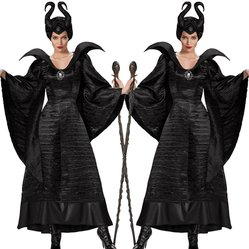 Women Movie Black Sleeping Beauty Witch Queen Maleficent Costumes Carnival Party Cosplay Fancy Dress